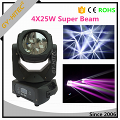 Newest 4leds x25W RGBW 4in1 LED Zoom super beam moving head