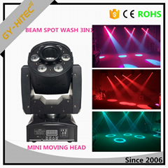 30w Spot + 6x8w beam wash led mini spot beam wash moving head with zoom