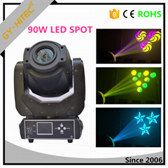 Newest 90W dmx Led Moving Head Beam Spot Gobo light