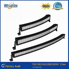 High quality 120W/180W/240W/288W Curved led light bar