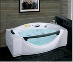 New design one person acrylic massage bathtub