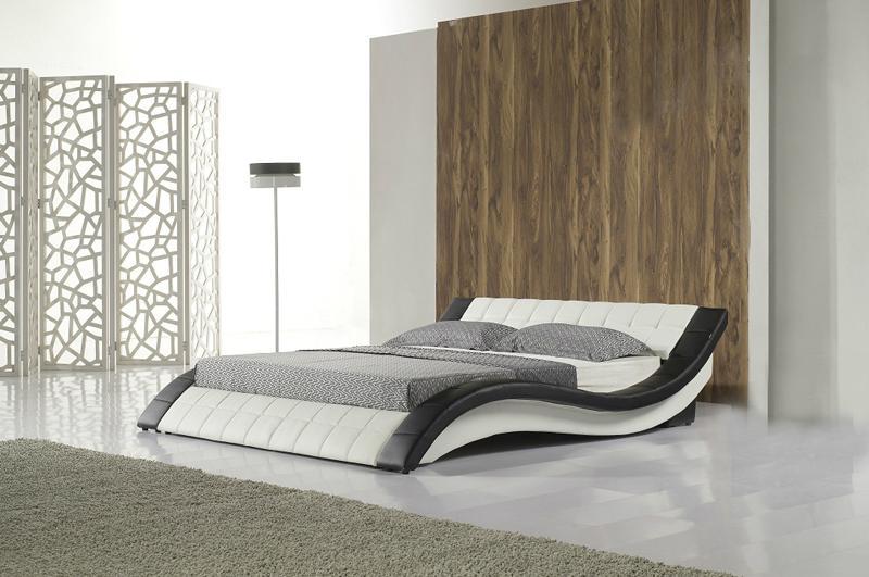 C305 Led light leather soft bed large king size comfortable bedroom furniture so 1