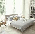 Korean designer wood leather bed 1.5 m