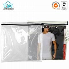 Wholesale price OEM Custom clear zipper garment pvc bag