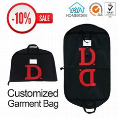 OEM logo printing quality custom garment bag for suit cover