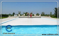 stand people automatic solid pool covers less evaporation