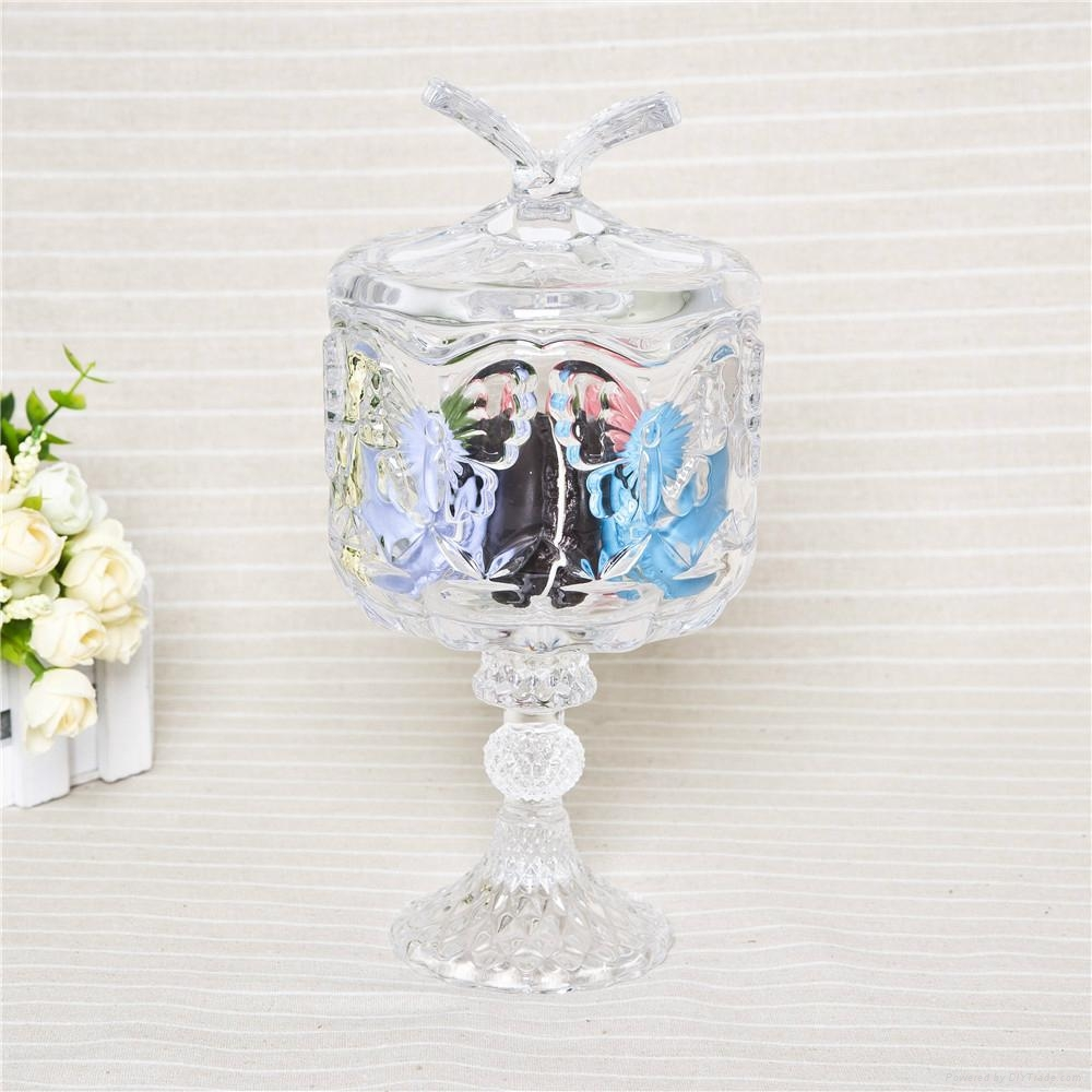 High Quality Clear Glass Dessert Cup With Lid Disposable Dessert Container 1