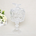 High Quality Clear Glass Dessert Cup With Lid Disposable Dessert Container 3