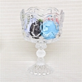 High Quality Clear Glass Dessert Cup With Lid Disposable Dessert Container 4
