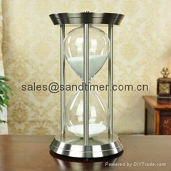 hourglasses , hour glass sand timer , metal sand timer