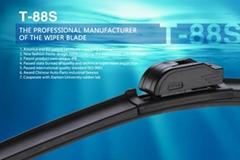 T-88S New High Quality Multi-fit Flat Wiper Blade Functional Boneless Windshield