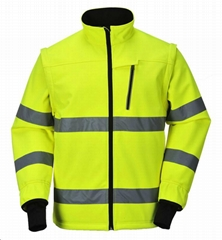 Winter Soft Shell High Visibility Safety Jacket