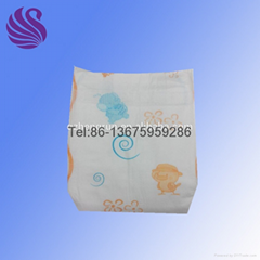 Clothlike backsheet baby disposable diaper factory made in china