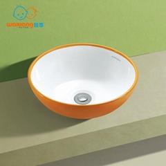 bathroom porcelain ceramic vessel vanity sink art basin suitable for children