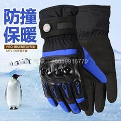 PRO-BIKER摩托車冬季防水防寒保暖滑雪騎行防摔機車手套