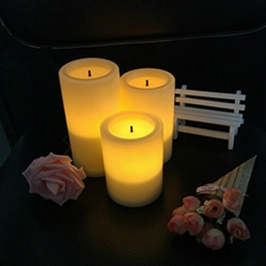 Multicolor battery operated waterproof electric led candles