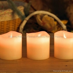 creative Christmas gift LED candle with real wax