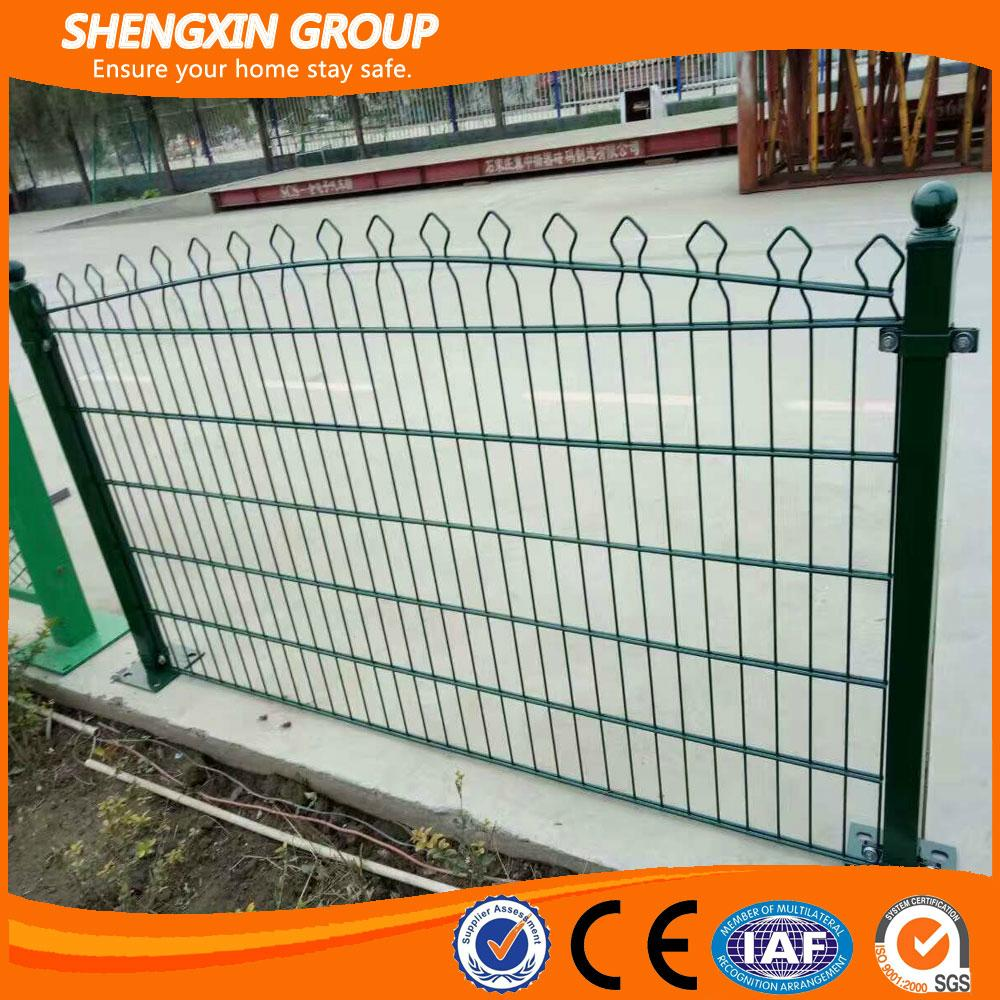 Cheap PVC coated arch top welded double wire fence for garden - SX ...