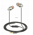 Multiple Color Copper Earphone Cheap Headset For MP3 MP4 Player Ear Pieces In Ea