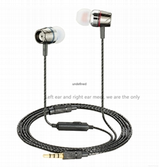 2016 Fashion Double Color Headphones In Ear headset