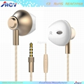 Stylish Half in ear earbuds design Wired Moving coil Headset with Microphone 1