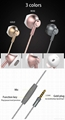 Stylish Half in ear earbuds design Wired Moving coil Headset with Microphone 2