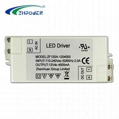 Constant voltage led driver 12V 4A 48W led power transformer UL listed