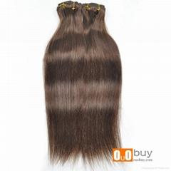 7A Grade Piano Clip In Hair Extension Silky Straight Wave Brazilian Human Hair