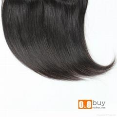 7A Grade Brazilian Hair Closure 8-16 inches Medium Divide Straight Hair