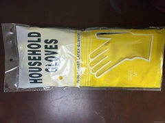 40G household latex gloves yellow colour