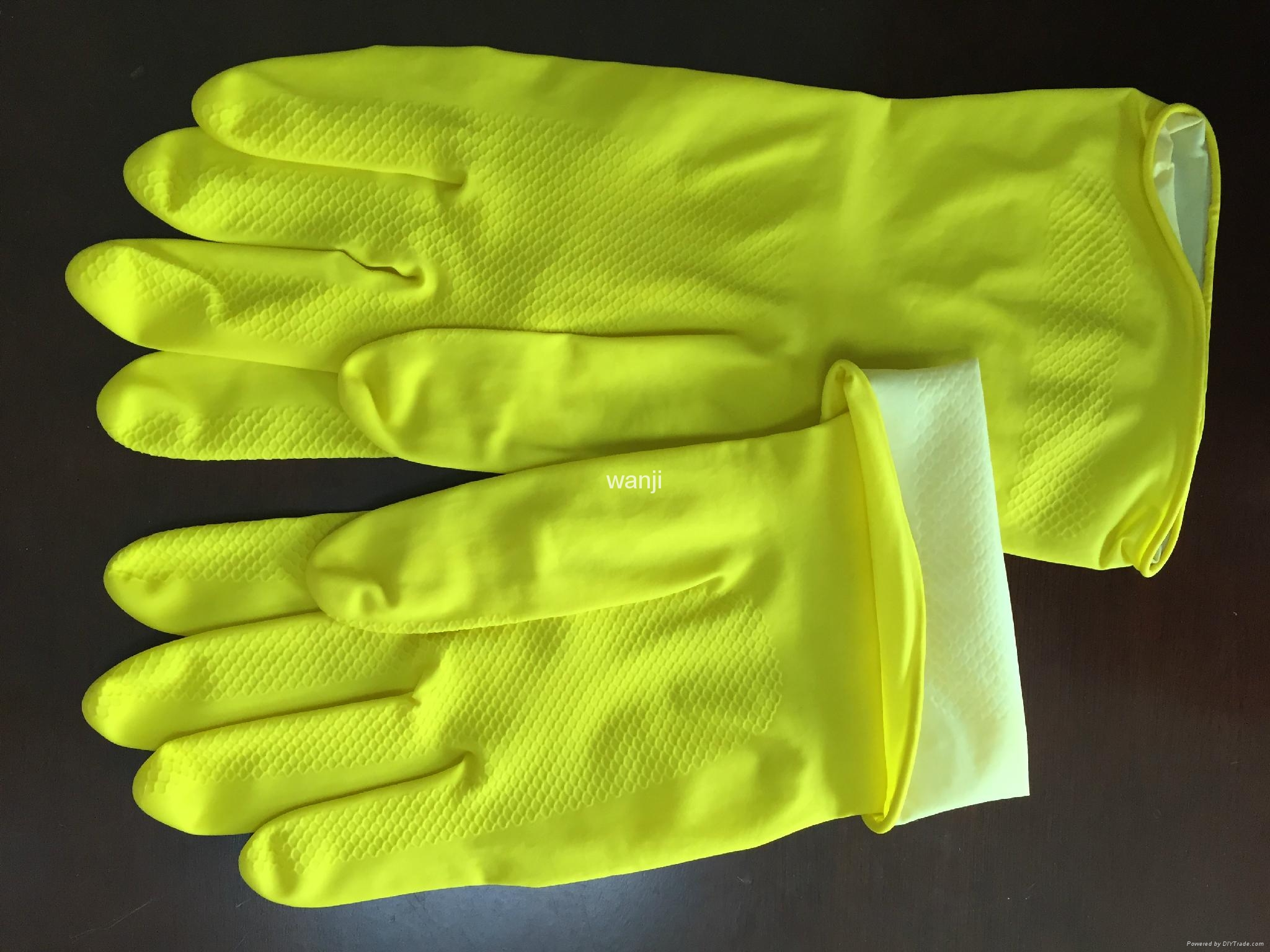 40G household latex gloves yellow colour 2