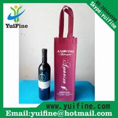 Wine Bag Non Woven Fabric Bag Reusable Cloth Bag Handbag Nonwoven Promotion Bag