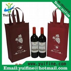 Non Woven wine Bag Reusable Cloth Bag Handbag Nonwoven Promotion Advertising