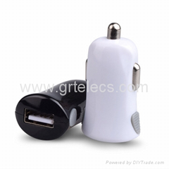 Mini single USB Micro USB car charger for mobile phones