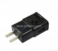 Hot selling 5V 1A AC USB travel adapter for Apple samsung 3