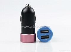 Reversible USB dual 2 USB port car