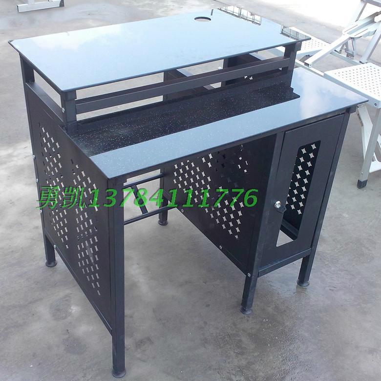 加厚鋼化玻璃網吧桌廠家批發 1