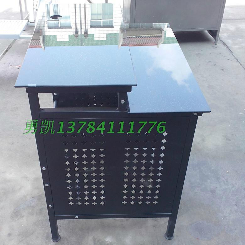 加厚鋼化玻璃網吧桌廠家批發 4