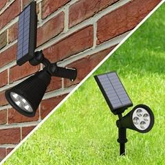 Amazon FBA Hot Sale 2016 4 LED Waterproof Solar Spotlight Outdoor Garden Light