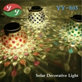 LED Solar Garden Jar Decor Light Lids