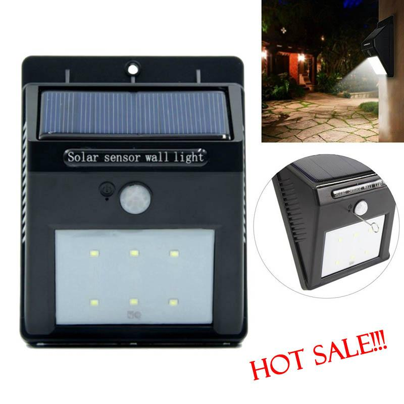 Hot Selling 2016 Amazon Waterproof IP65 6 LED Garden Wall Stairs Step Solar Lamp 2
