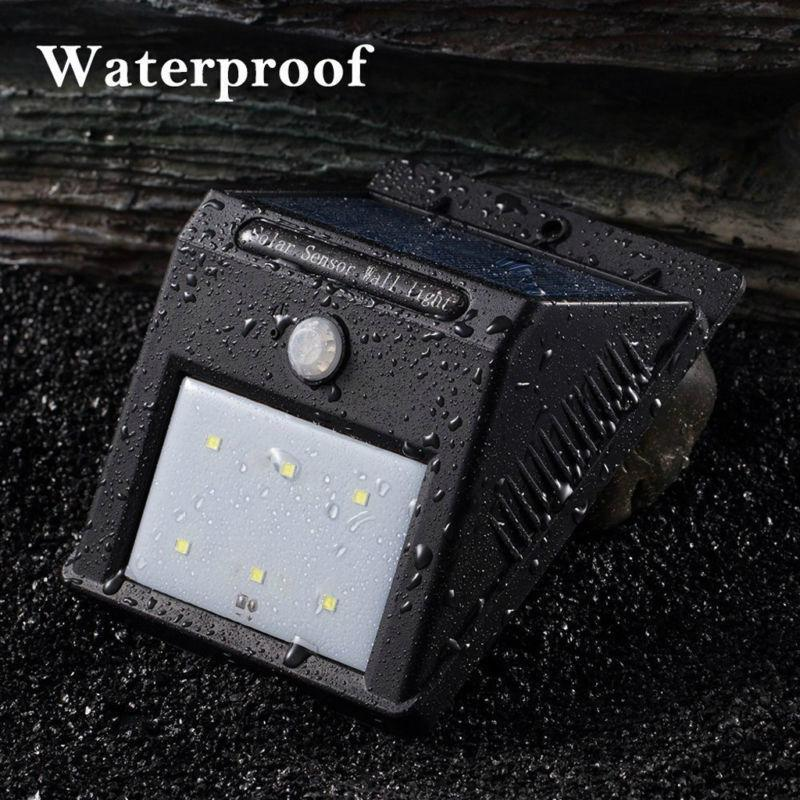 Hot Selling 2016 Amazon Waterproof IP65 6 LED Garden Wall Stairs Step Solar Lamp 4