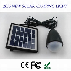 2016 New Released Outdoor Portable LED Solar Camping Light