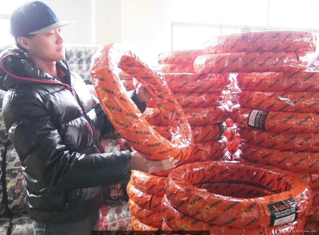 Shandong Tubeless Motorcycle Tire 90/90-12 130/70-12 Motorcycle Parts 3