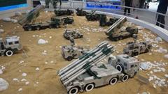 军事演习场景沙盘模型