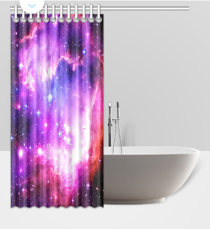 Waterproof Polyester Fabric Custom Shower Curtains 60(W) x 72(H) 2