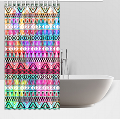 Waterproof Polyester Fabric Custom Shower Curtains 66x 72