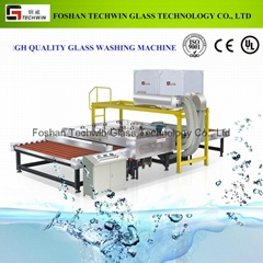 High speed glass washing and drying machine for laminated glass production lines