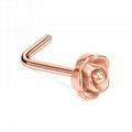 厂家批发不锈钢玫瑰款耳钉鼻钉 5