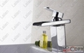 LED Waterfall color changing bathroom basin faucet 4